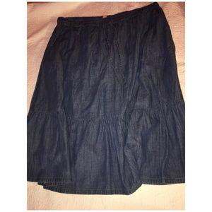 Blue Jean Prairie Style Skirt sz 28 WP